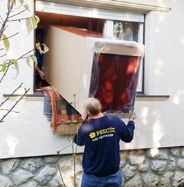 gardrób szekrény költöztetése ablakon